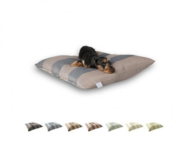 "2-in-1 Hundebett M 80x80cm ""Kleine Hunde"" DARLING LITTLE PLACE im Design STRIPES"