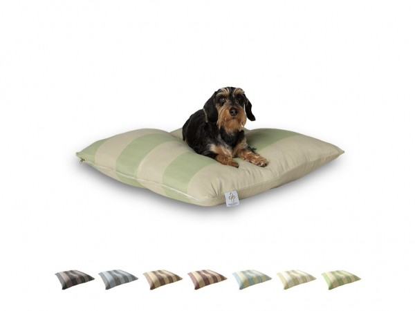 "2-in-1 Hundebett M 80x80cm ""Kleine Hunde"" DARLING LITTLE PLACE im Design STRIPES Neues Modell"