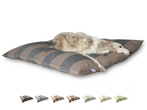 "2-in-1 Hundebett XL 135x135cm ""Große Hunde"" DARLING LITTLE PLACE im Design STRIPES"