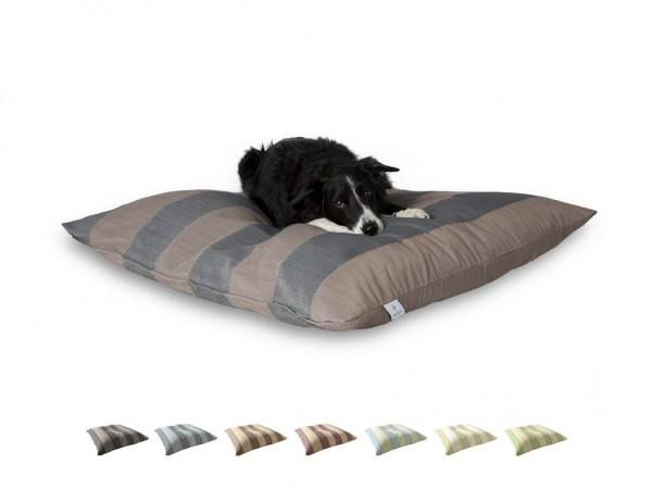 "2-in-1 Hundebett L 110x110cm ""Mittelgroße Hunde"" DARLING LITTLE PLACE im Design STRIPES"