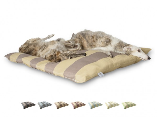 "2-in-1 Hundebett XL 135x135cm ""Große Hunde"" DARLING LITTLE PLACE im Design STRIPES"
